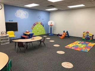 Tuscarawas County YMCA Child Watch Babysitting Room Large Motor Skills area